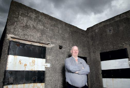 Former Cork hurler Kevin Hennessy pictured at the old dressing rooms in Midleton