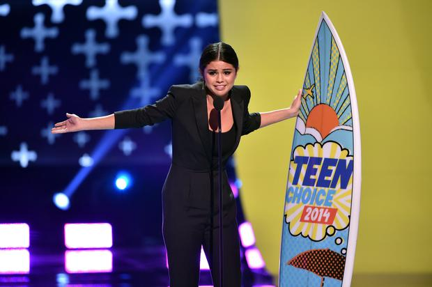 Recording artist Selena Gomez onstage during FOX's 2014 Teen Choice Awards at The Shrine Auditorium