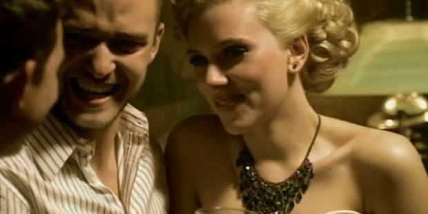 Scarlett Johansson in the video for Justin Timberlake's 'What Goes Around Comes Around'