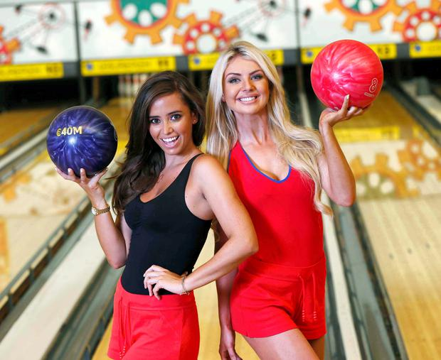 Models Rachel Wallace and Hayley Ryan are hoping to strike it lucky with tomorrows 40 million EuroMillions Jackpot. Picture: Robbie Reynolds