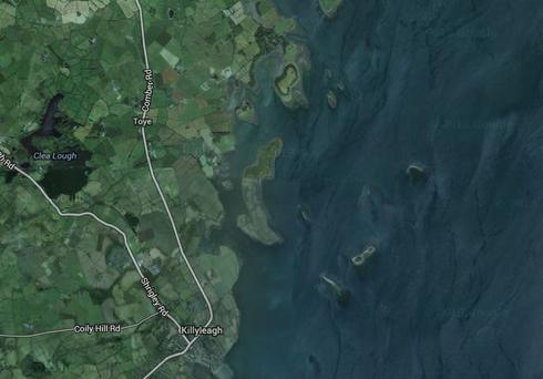 An aerial image of Strangford Lough, where today's incident is taking place. (Photo: Google Maps)