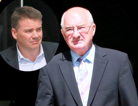 Former Anglo directors Willie McAteer and (inset) Pat Whelan