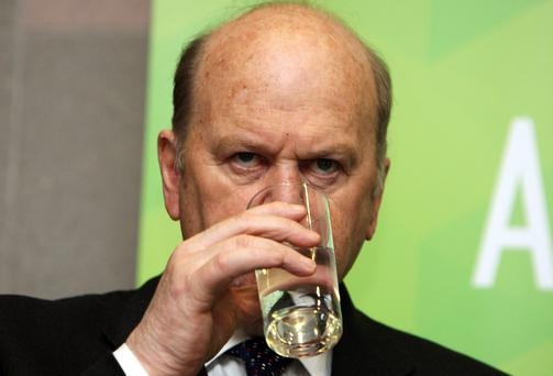 Finance Minister Michael Noonan says cutting the USC rates by 0.5pc and 1pc is estimated to cost €378m and €756m respectively. Photo: Tom Burke