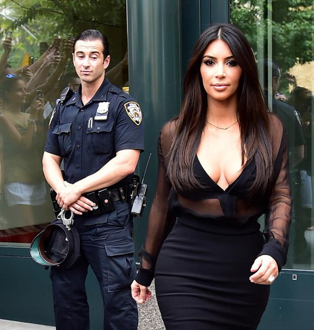 Kim Kardashian is seen in Soho on August 11, 2014 in New York City. (Photo by Alo Ceballos/GC Images)