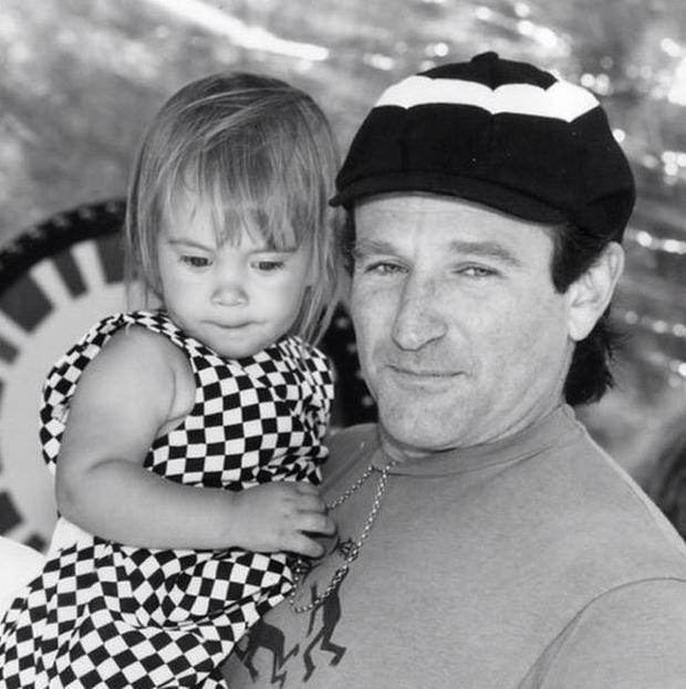 Robin Williams' final post online was a poignant photo of him with his 25-year-old daughter (Photo: Instagram/Robin Williams)