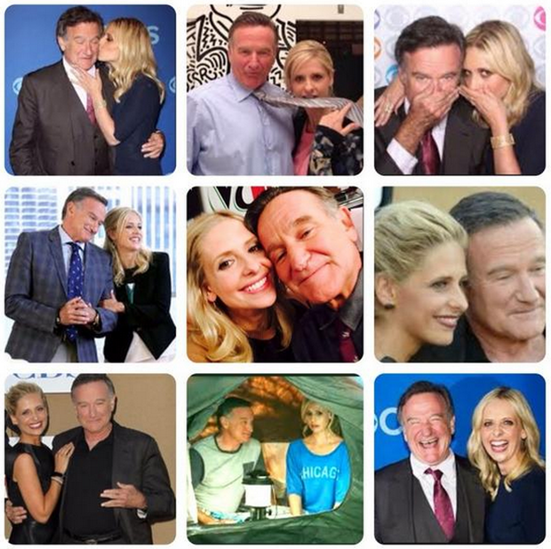 Sarah Michelle Gellar posted a montage of images with Robin Williams on Twitter