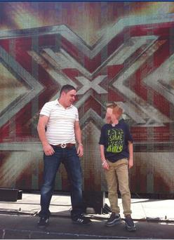Ger Dundon on the X Factor stage. Photo: Irish Daily Mirror