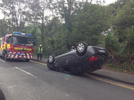 The scene of the accident today. Photo: @gardatraffic