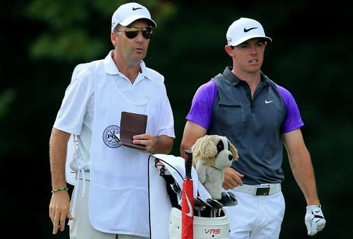 JP Fitzgerald has been an ever-present by Rory McIlroy's side as his caddie since 2008. Photo: David Cannon/Getty Images