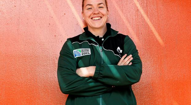 Ireland's Niamh Briggs will lead her team into the last-four of the Women's Rugby World Cup for the first time against an England side looking to reach their fourth-consecutive final. Photo: Brendan Moran / SPORTSFILE