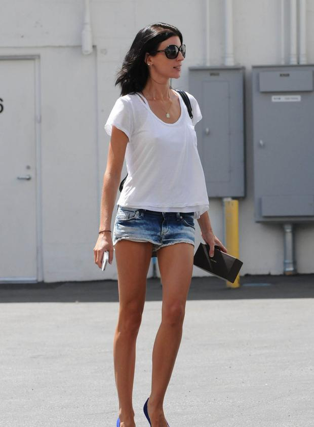August 31, 2012: Liberty Ross shows off her long legs after stopping by a salon in Beverly Hills and shopping at American Rag in Hollywood, CA. Mandatory Credit: Dharma/INFphoto Ref: infusla-222|sp|