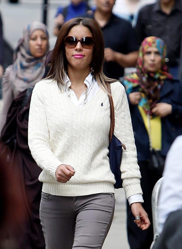 Nawal Msaad arrives at the Old Bailey in London Steve Parsons/PA Wire