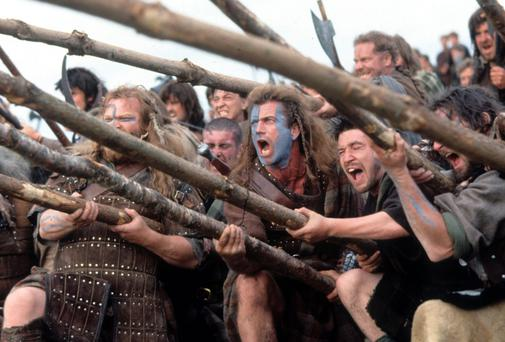 'There's even renewed interest in the movie Braveheart where Mel Gibson did down the English, aided by some Hollywood mythmaking'. Photo by 20th Century-Fox/Getty Images