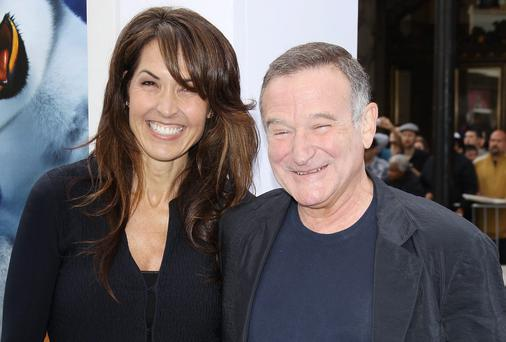 Robin Williams and his wife Susan has a night out before he died. Photo credit: Michael Tran/FilmMagic
