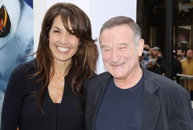 Robin Williams and his wife Susan