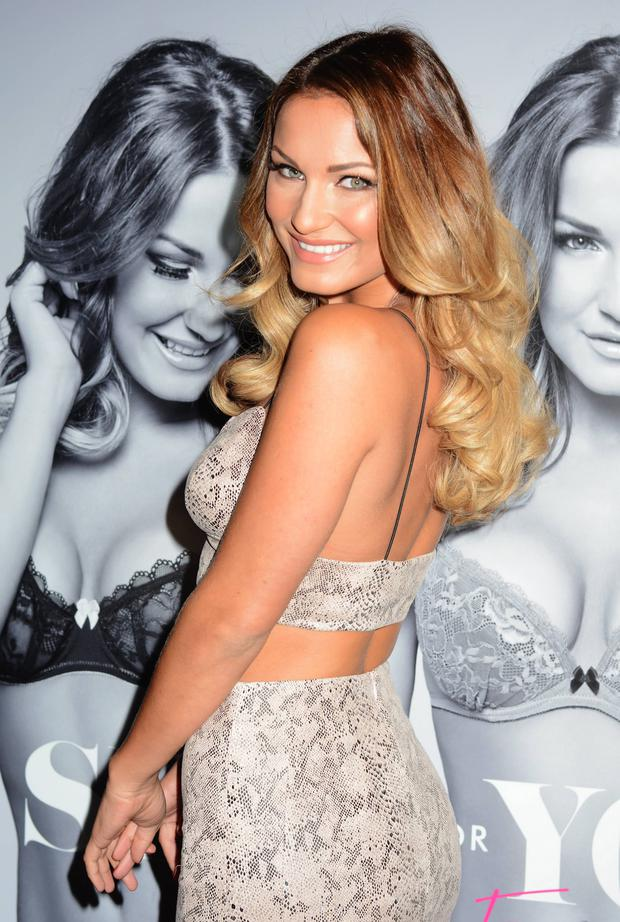 TOWIE star Sam Faiers at The Wright Venue today to promote the launch of her collaboration with Ann Summers