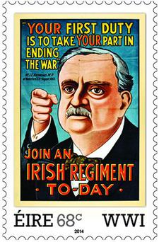 An Post First World War stamp featuring John Redmond (Photo: An Post)