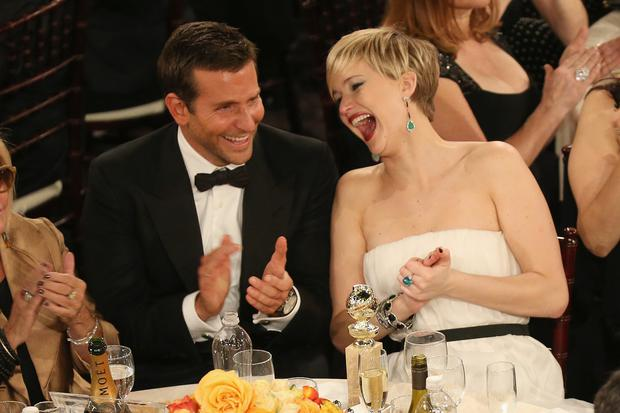 Bradley and Jennifer at the Golden Globes