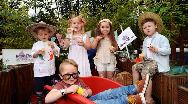 Children launch Electric Picnic fundraiser. Organisers donate 100 tickets to Temple Street Children's Hospital.