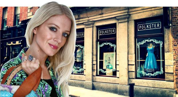 HIGH-FLYING FASHIONISTA: Stylist Blanaid Hennessy owns Shutterbug Vintage in Kilkenny and is also the brains behind the popular online and in-store contemporary brand Folkster — the Temple Bar outlet is pictured above