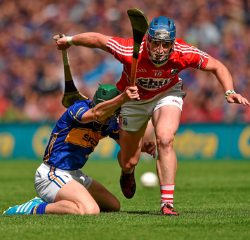 Cork's Patrick Horgan in action against Cathal Barrett of Tipperary in the Hurling All-Ireland Senior Championship Semi-Final