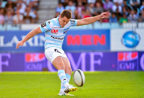 Johnny Sexton kept his nerve to seal the win for Racing Metro