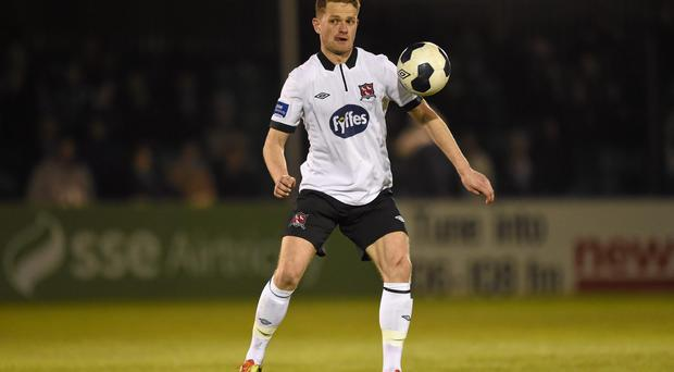 Dundalk full-back Dane Massey says he is expecting a difficult game against Sligo Rovers at The Showgrounds. Photo: Stephen McCarthy / SPORTSFILE