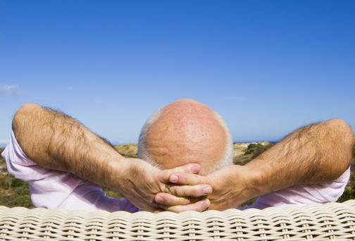 Relax and don't worry about going bald