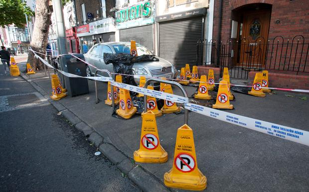 18/08/2014 The scene of a stabbing on North Strand Road, Dublin. Photo: Gareth Chaney Collins