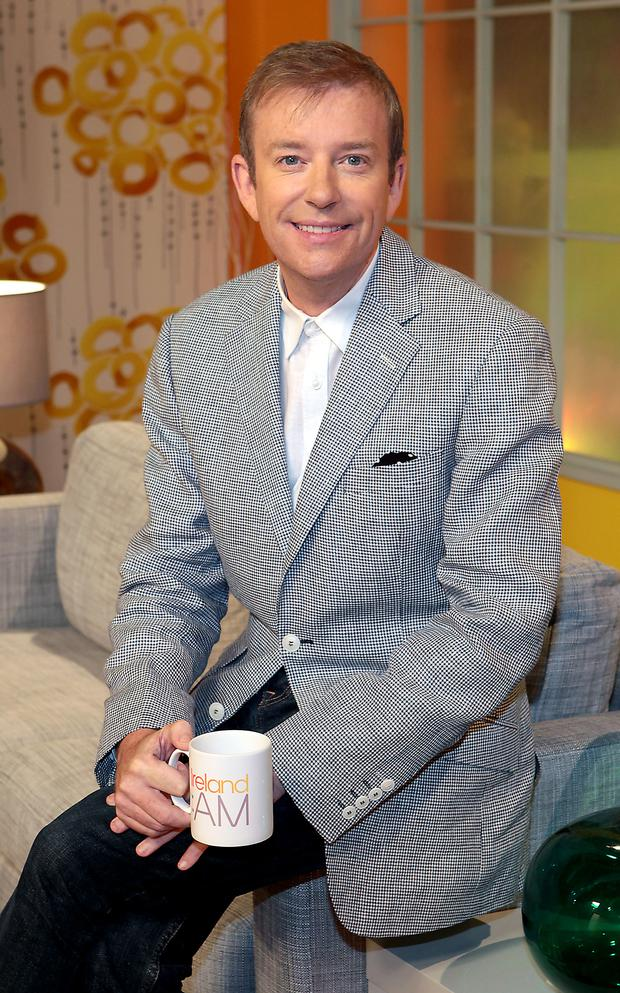 Presenter Alan Hughes pictured at the unveiling of the new Ireland Am set at Tv3 Studio's in Ballymount Dublin Pic:Brian McEvoy