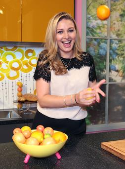Presenter Anna Daly pictured in the kitchen at the unveiling of the new Ireland Am set at Tv3 Studio's in Ballymount Dublin Pic:Brian McEvoy No Repro fee for one use