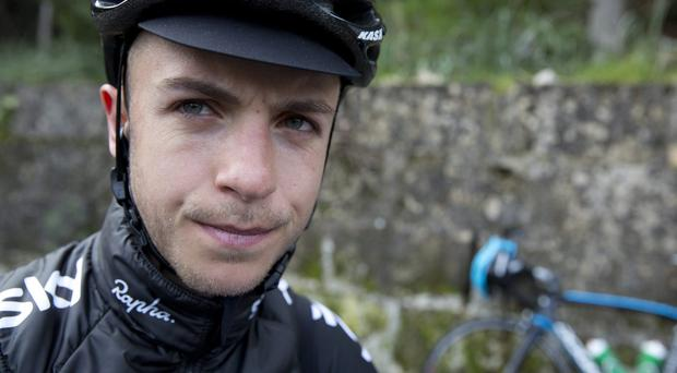 Jonathan Tiernan-Locke claimed his anomalous blood samples were as a result of a drinking binge to celebrate his new two-year deal with Team Sky. Photo: Scott Mitchell/teamsky.com via Getty Images