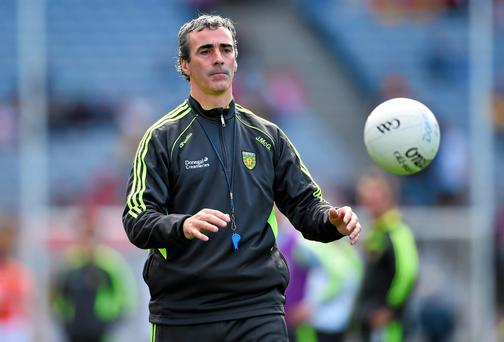 Donegal manager Jim McGuinness believes the divide between Dublin and the rest is only going to grow and will be 'very difficult to penetrate' in the future. Photo: Stephen McCarthy / SPORTSFILE