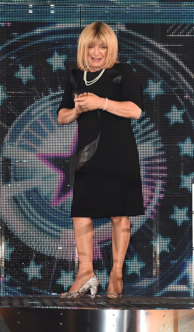 Kellie Maloney arriving to enter the Celebrity Big Brother house in 2014