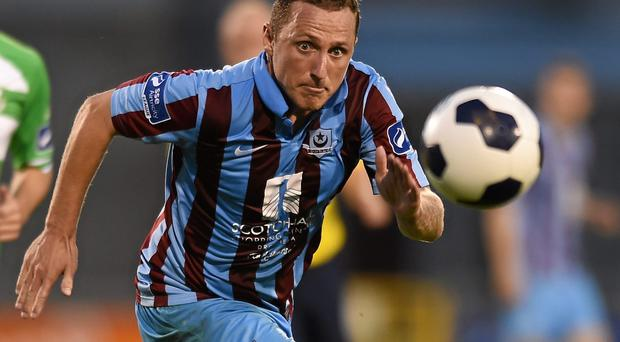 Gary O'Neill scored to give Drogheda United a win over a disappointing Derry City. Photo: Paul Mohan / SPORTSFILE