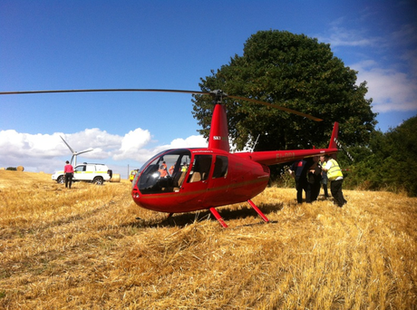The dramatic landing happened in Ringaskiddy when the pilot and a student were on a training flight. Photo: Provision