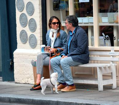 Gabriel Byrne & new wife Hannah Beth King since they married earlier this month in Ballymaloe Country House Hotel, Cork