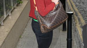 Newly engaged Mairead Farrell kept her left hand firmly in her pocket as to not show off her ring as she left Today FM