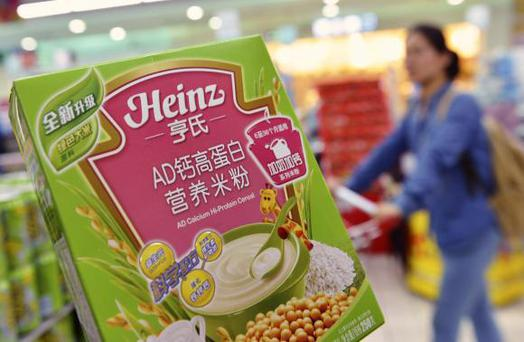 A box of Heinz AD Calcium Hi-Protein Cereal, which was part of a batch of the cereal not affected by a recent recall, at a supermarket in Hangzhou, Zhejiang province . Reuters/Stringer