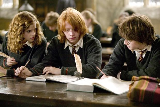 Emma Watson, Rupert Grint, and Daniel Radcliffe in Harry Potter