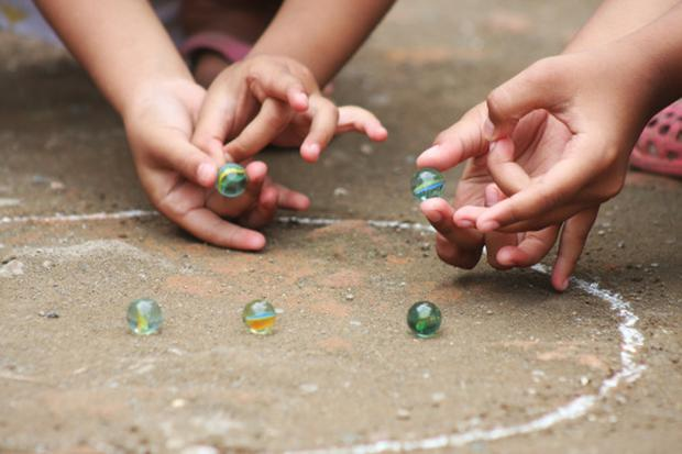 Playing marbles