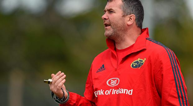 Munster head coach Anthony Foley during squad training at Cork Institute of Technology. Photo: Diarmuid Greene / SPORTSFILE