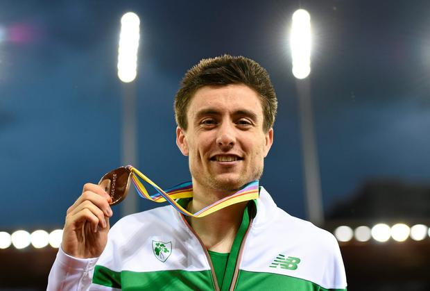 Mark English is returning to his medical studies degree at UCD this autumn after bronze medal-winning run in the 800m at the European Athletics Championships in Zurich. Picture credit: Stephen McCarthy / SPORTSFILE
