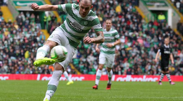 Celtic striker Anthony Stokes is looking to end his long run without a goal in European competition. Photo: Andrew Milligan/PA Wire