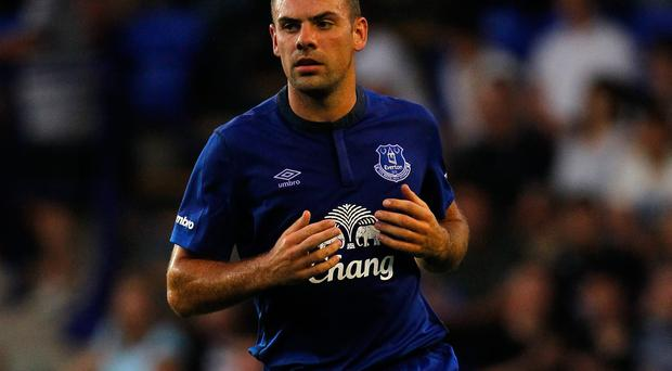 Everton boss Roberto Martinez has indicated he will not rush Darron Gibson back into first-team action after his long-term injury lay-off. Photo: Paul Thomas/Getty Images