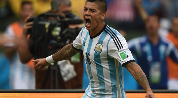Argentinian defender Marcos Rojo says 'it's a dream to play at Manchester United' as the club confirmed a deal was in place with Sporting Lisbon for the player. Photo: PEDRO UGARTE/AFP/Getty Images