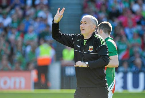 Mayo trainer Donie Buckley will come up against the Kerry team he used to coach at Croke Park on Sunday. Photo: Brendan Moran / SPORTSFILE