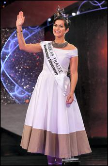 Philadelphia Rose Maria Walsh who was crowned The Rose of Tralee 2014 at the International Festival at The Dome in Kerry last night. Pic Steve Humphreys 19th August 2014