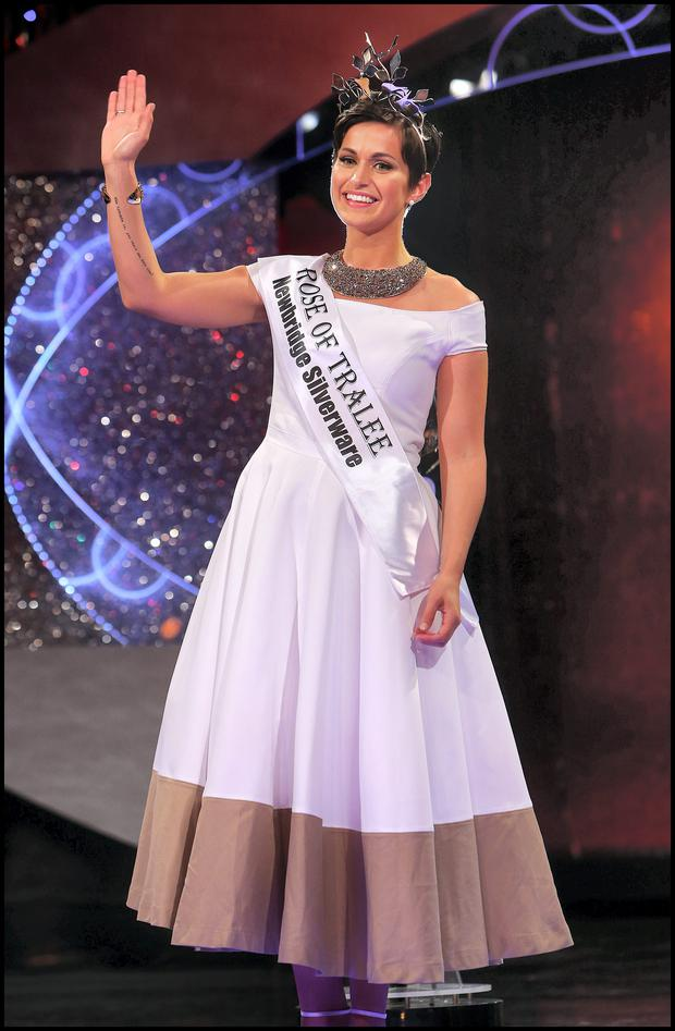 Philadelphia Rose Maria Walsh who was crowned The Rose of Tralee 2014 at the International Festival at The Dome in Kerry last night.