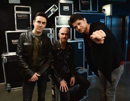 Glen Power, Mark Sheehan and Danny O'Donoghue from The Script